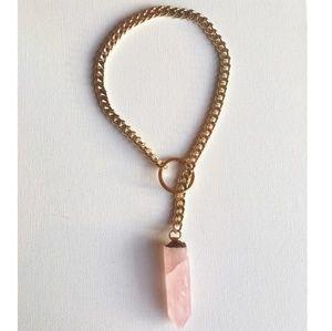 Rose Quartz Custom Rare Necklace *NEW* only one